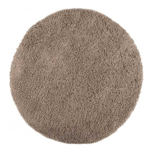 Cariboo Shaggy Circle Rugs in Silver