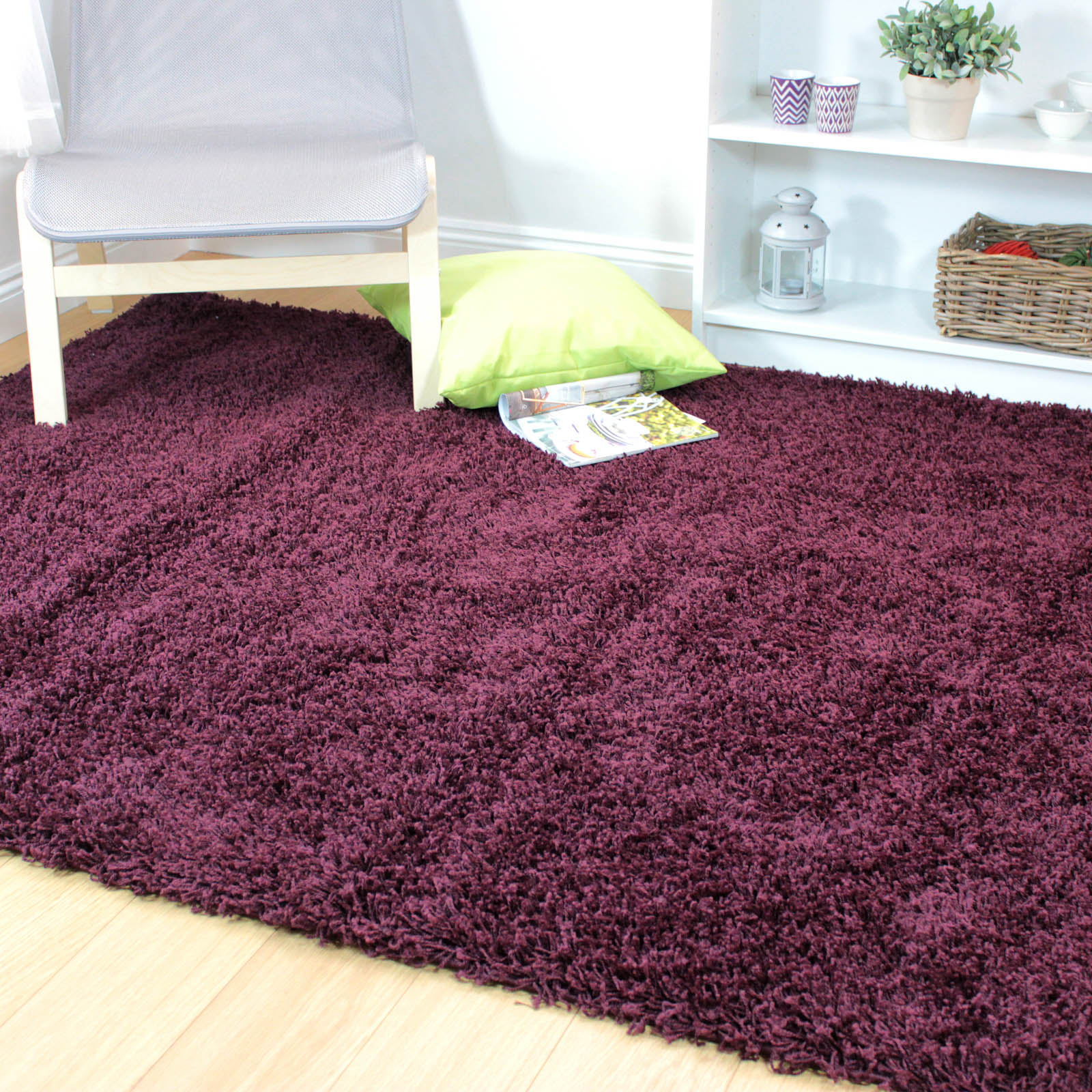Nordic Cariboo Shaggy Rugs in Purple