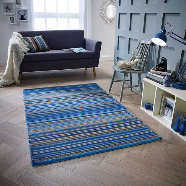 Carter Rugs in Blue