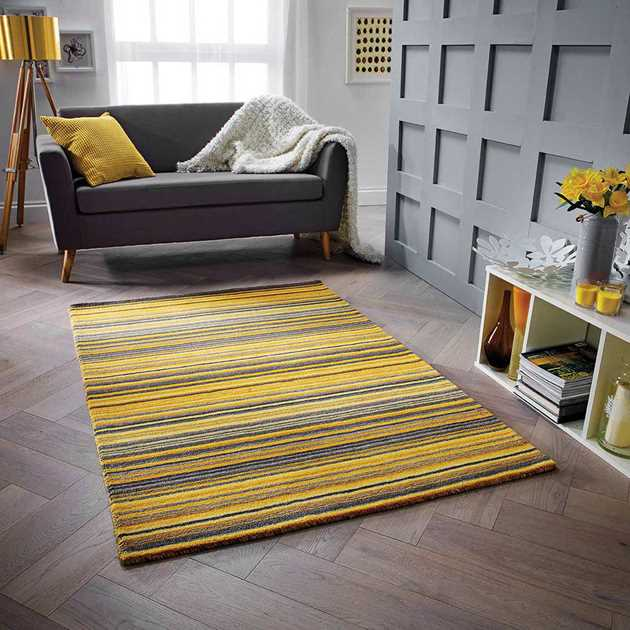Carter Rugs in Ochre