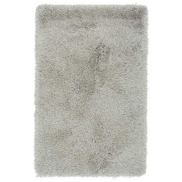 Cascade Shaggy Rugs in Silver