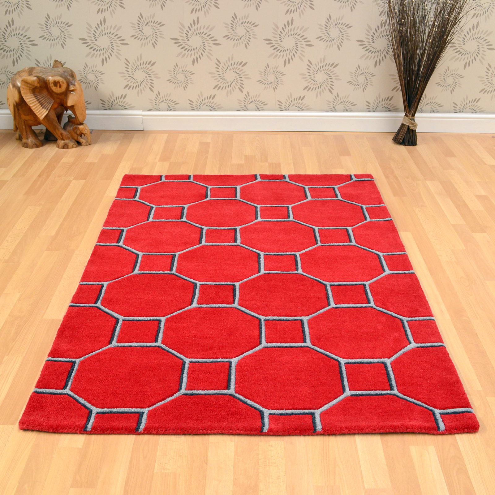 Matrix Cassin Rugs MAX08 Red