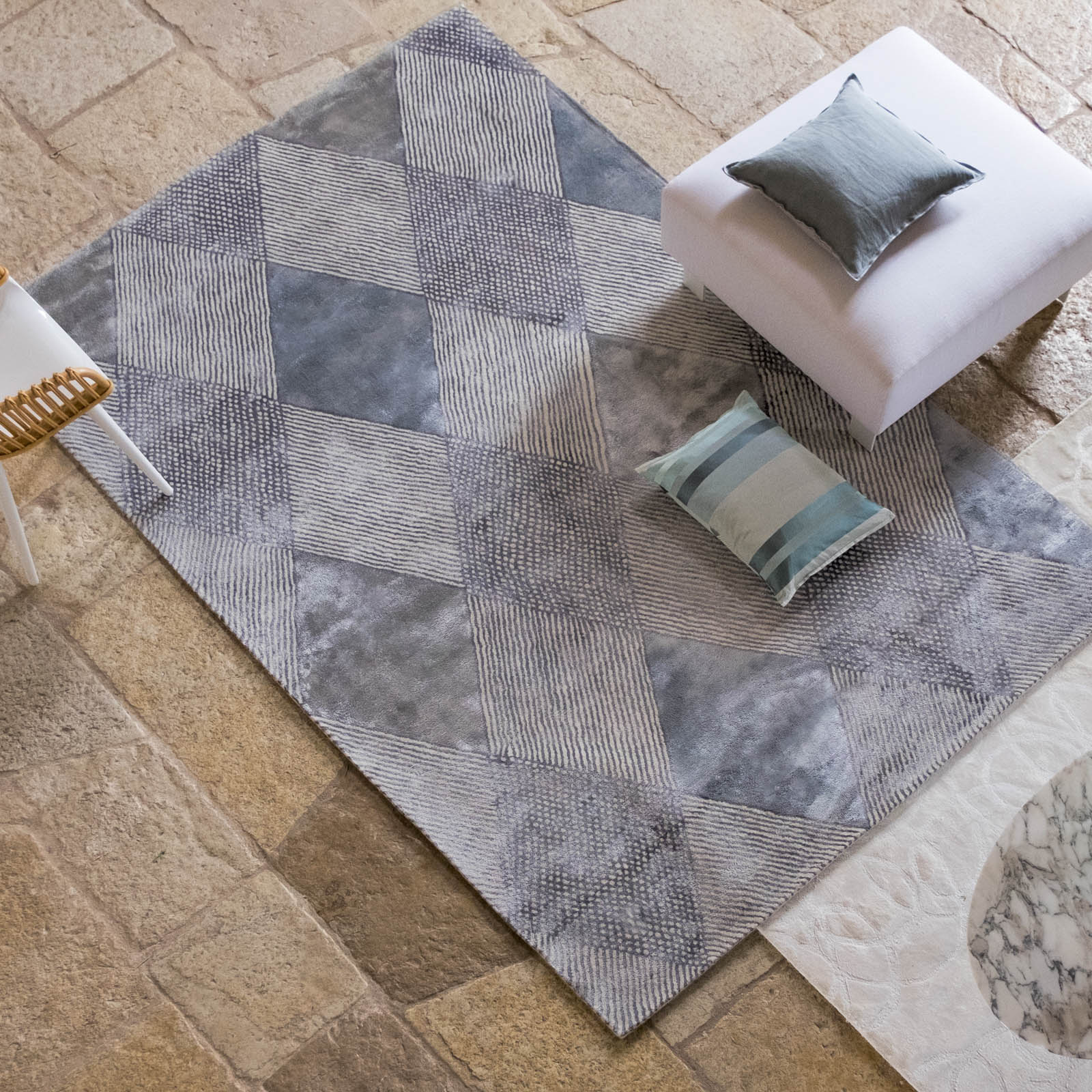 Castillon Platinum Rug by Designers Guild