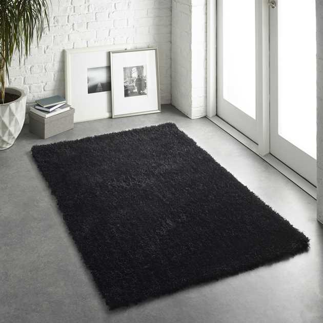 Chicago Shaggy Rugs in Black
