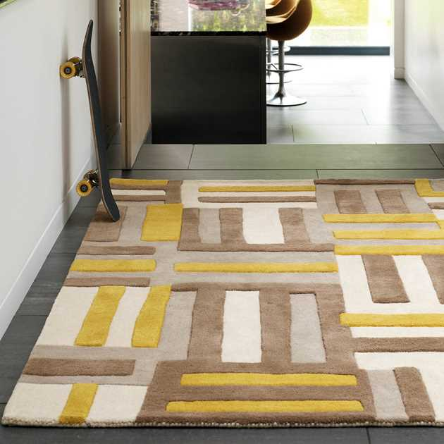 Matrix Code Rugs MAX17 Yellow