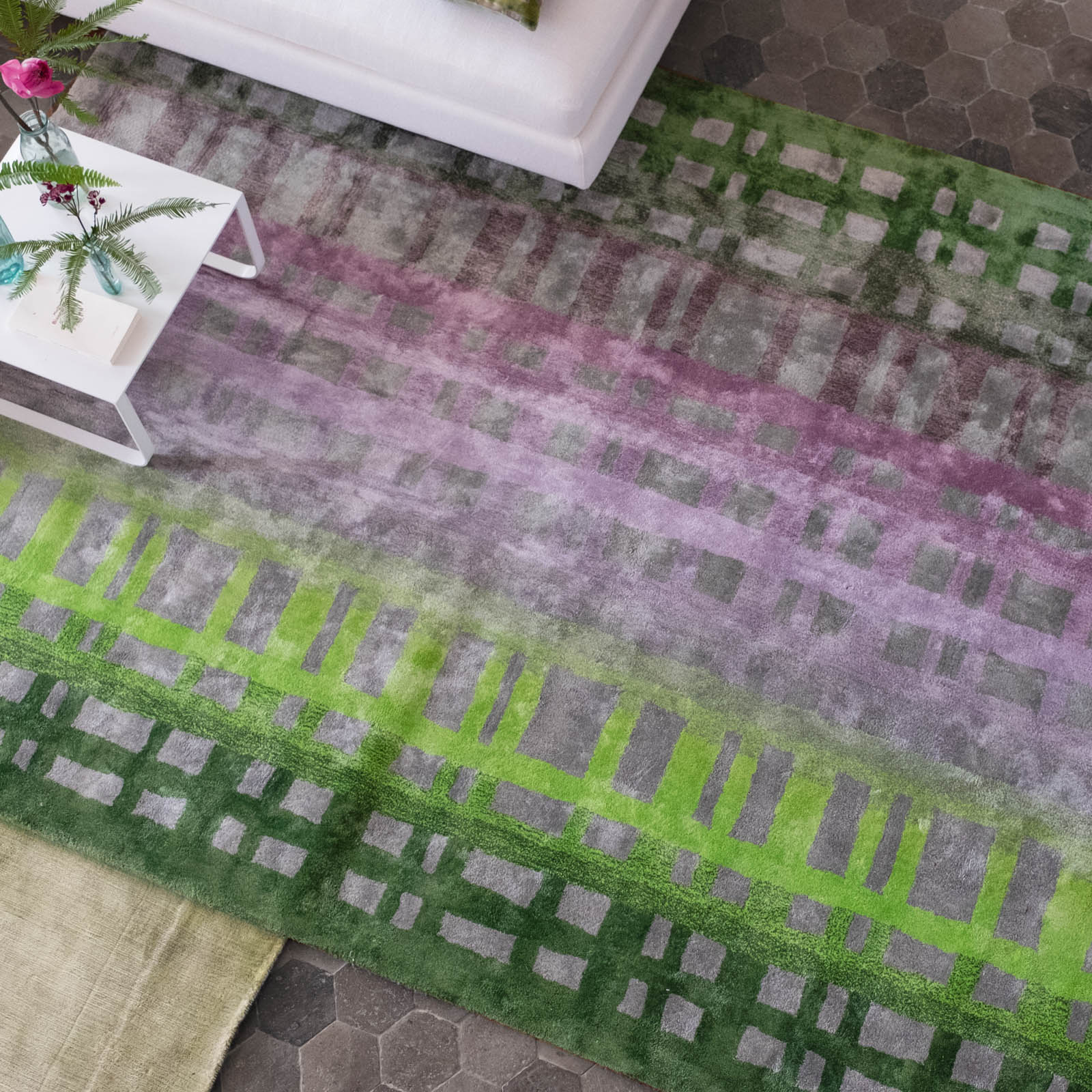 Colonnade Moss Rug by Designers Guild