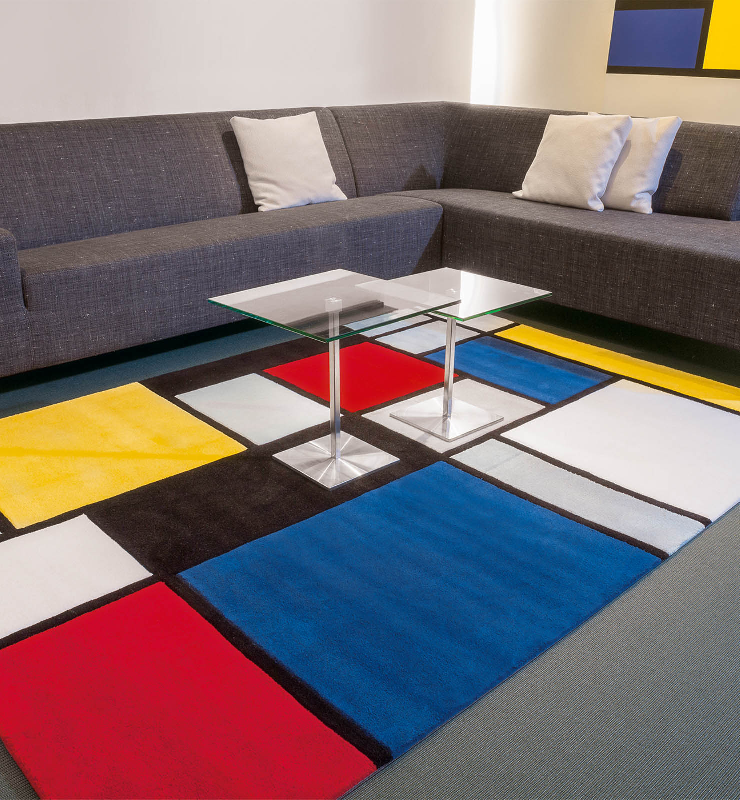 Coloured Cubes Rugs 3089 73