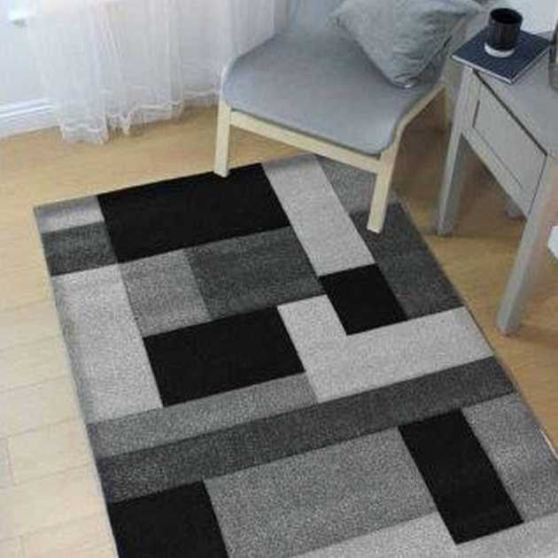Cosmos Rugs in Black and Grey