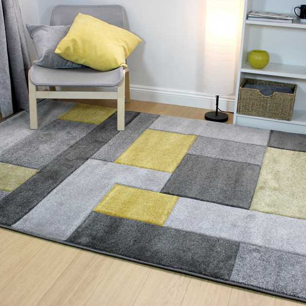 Cosmos Rugs in Grey and Ochre