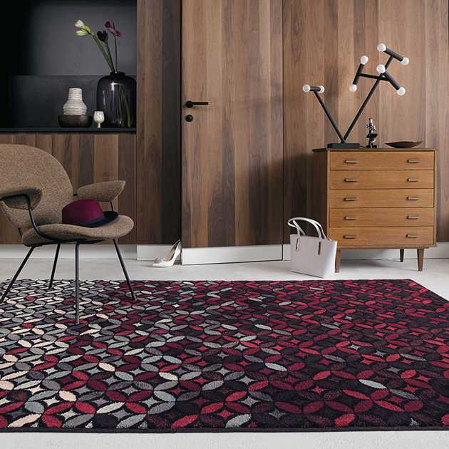 Cosmoz Rugs 58905 in Deep Purple by Ted Baker