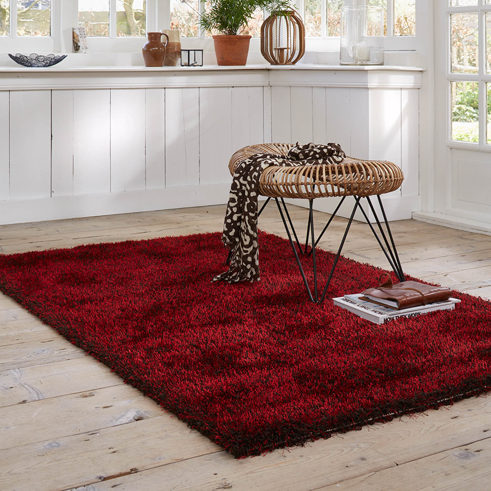 Esprit Cosy Glamour Rugs 0400 81 Red
