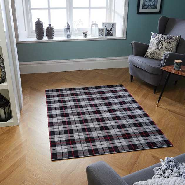 Cottage Washable Flatweave rugs 11E ini Black
