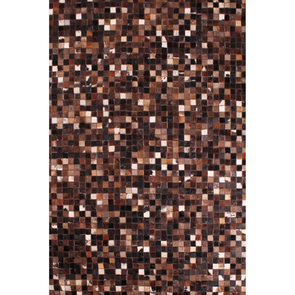 Cowhide Patchwork - Brown White