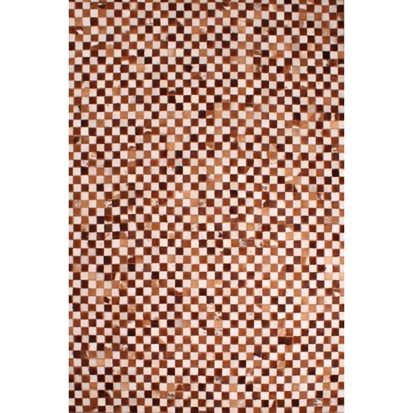 Cowhide Patchwork - White Tan