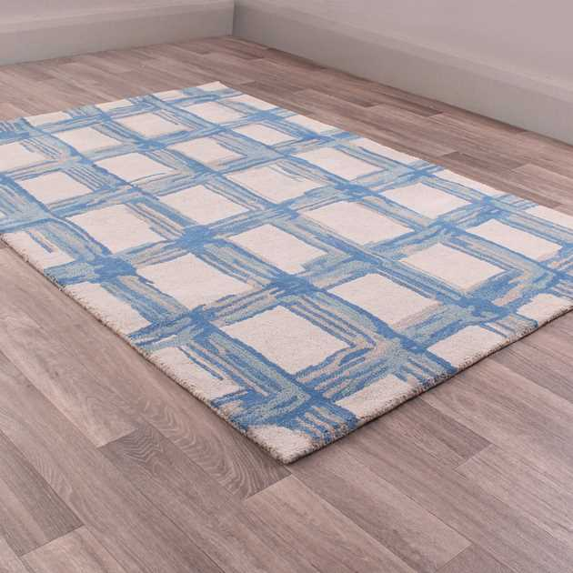 Fusion Crete Rugs in Blue