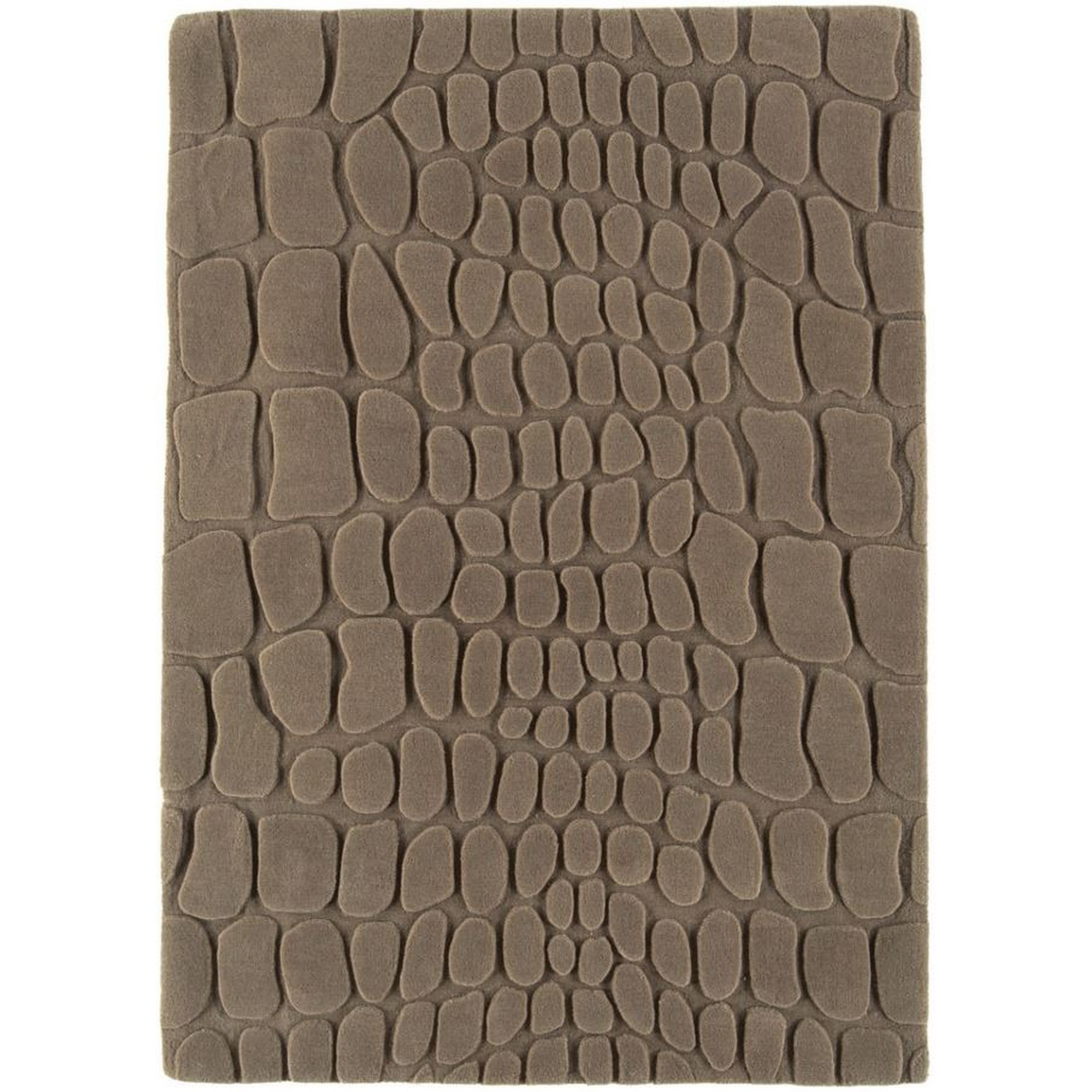 Croc Wool Rugs in Taupe