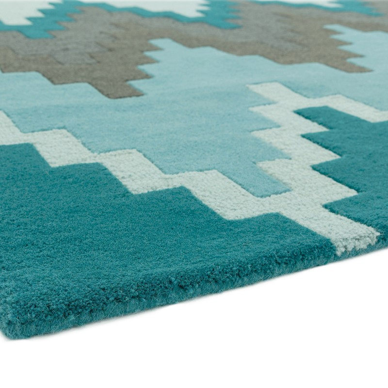 Matrix Cuzzo Rugs MAX21 Teal Buy Online From The Rug Seller Uk