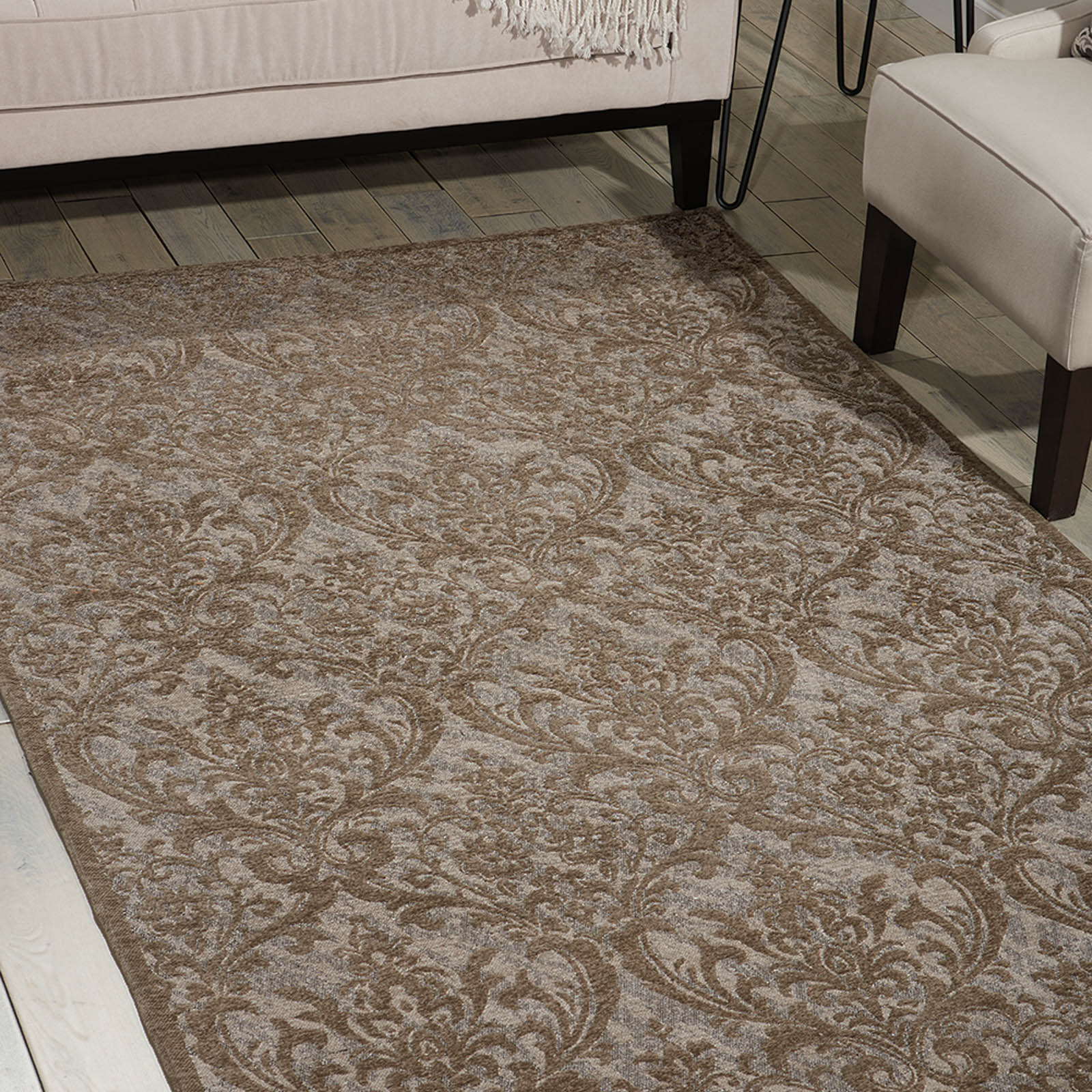 Damask Rugs DAS02 in Grey by Nourison