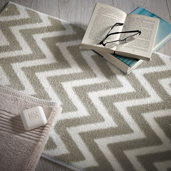 Chevron - Beige White