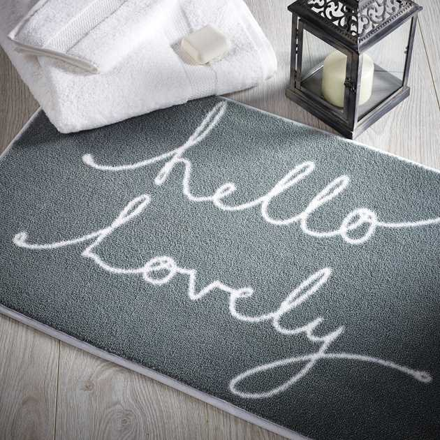 Hello Lovely 1 Bathroom Mats by Dip and Drip