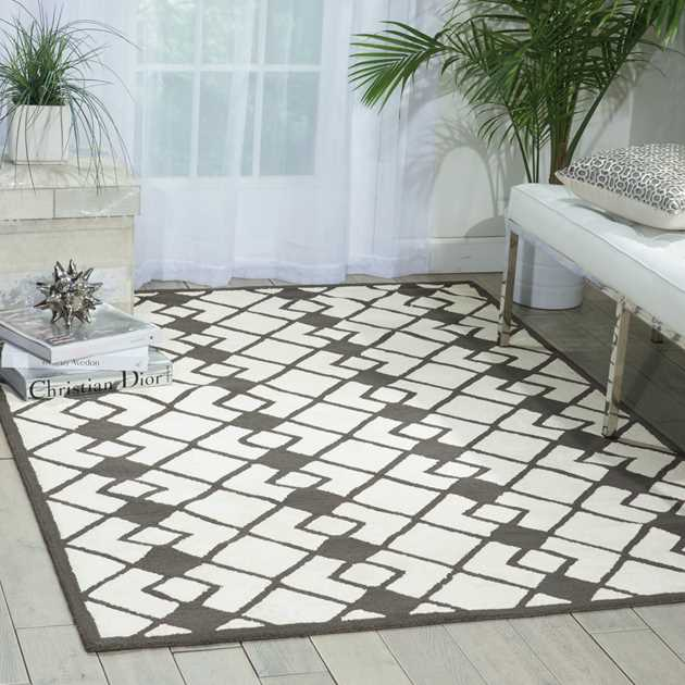 Decor Rugs DER03 By Nourison In Ivory And Grey