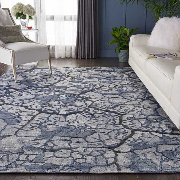 Divine Rugs DIV02 in Misty blue by Nourison