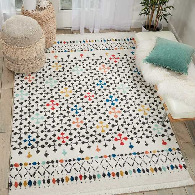 Kamala Rugs DS504 by Nourison in White