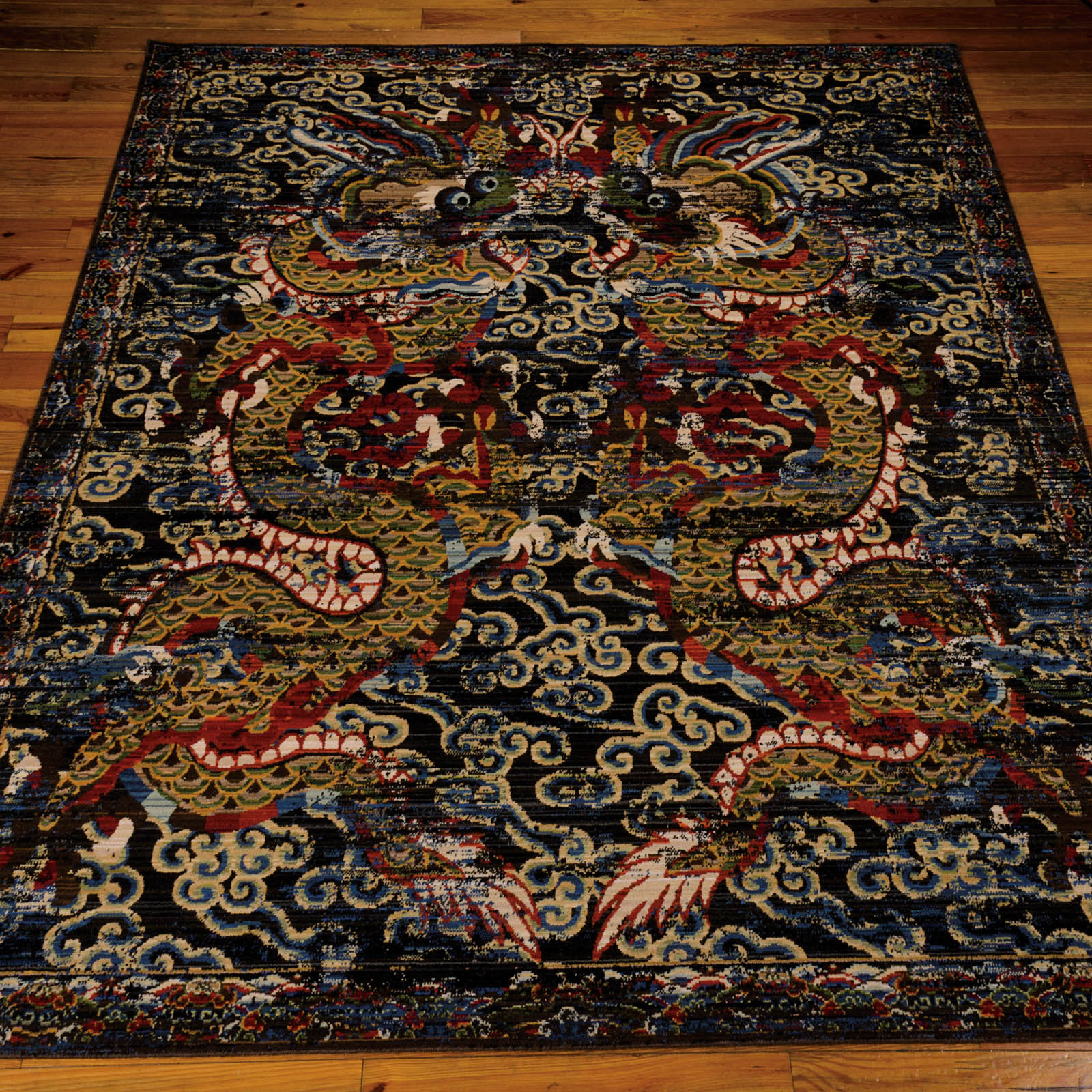 Nourison Dynasty Rugs DYN05 Midnight