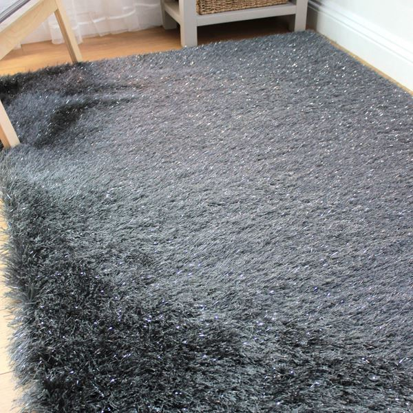 Dazzle Sparkling Shaggy Rugs