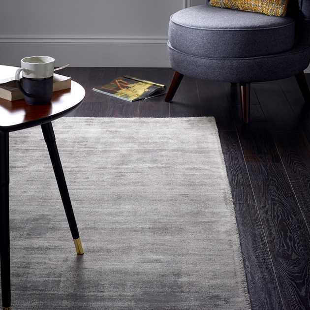 Delano Plain Rugs in Grey