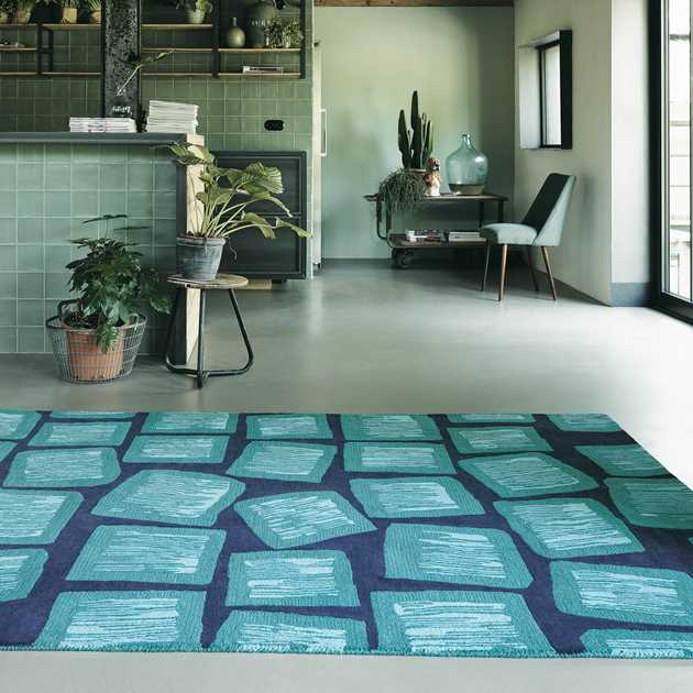 Estella Dice Wool Rugs 89208 by Brink and Campman