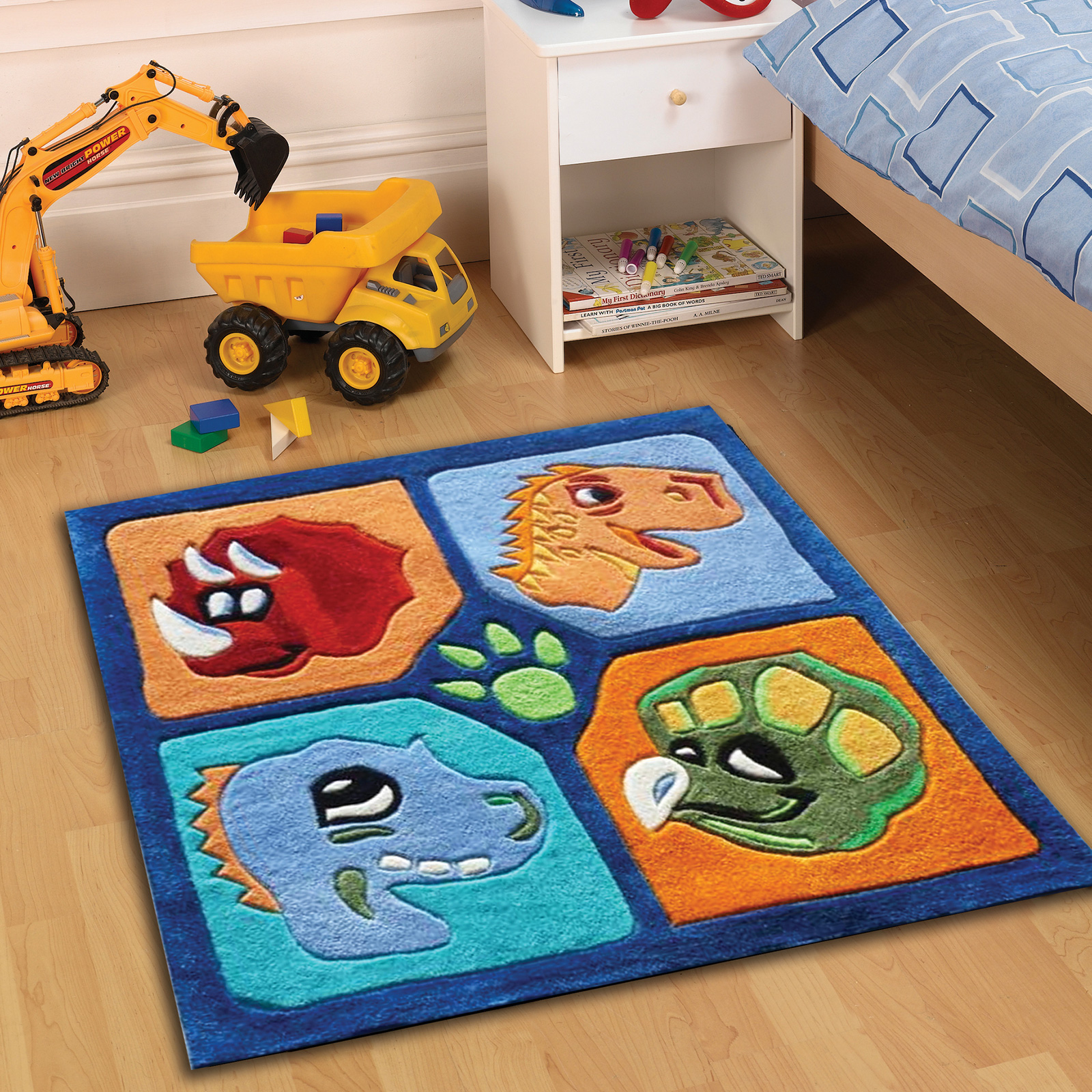 Dino Multi Childrens Rugs