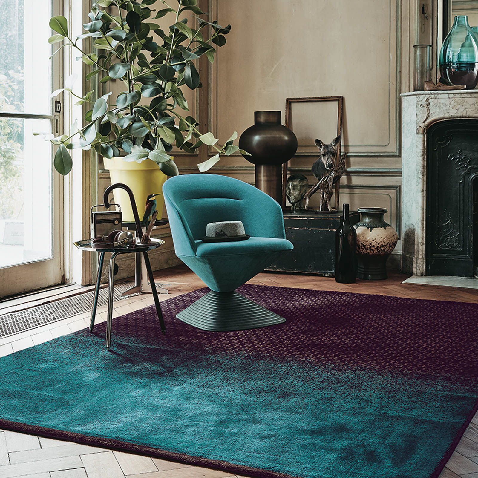 Dipgeo Rugs 58405 by Ted Baker in Rust