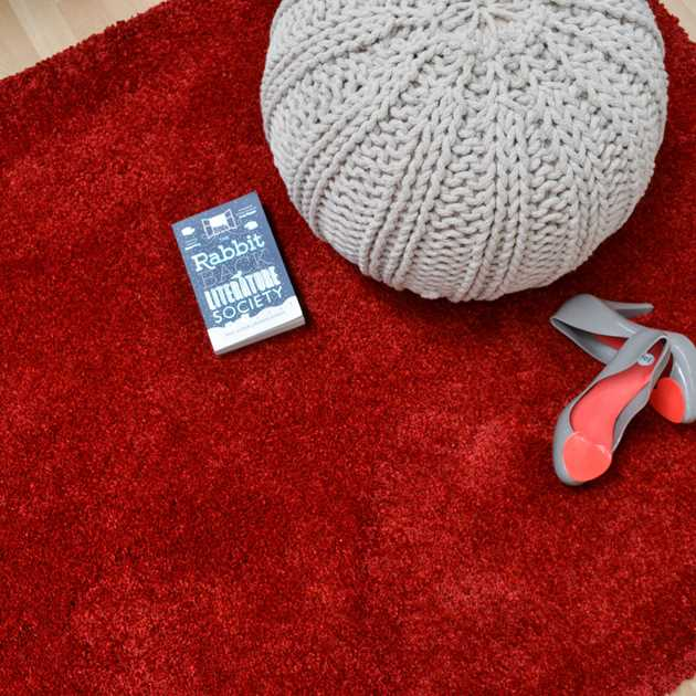 Drift Shaggy Rugs DR01 in Red