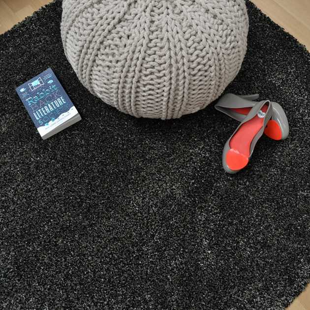 Drift Shaggy Rugs DR03 in Anthracite