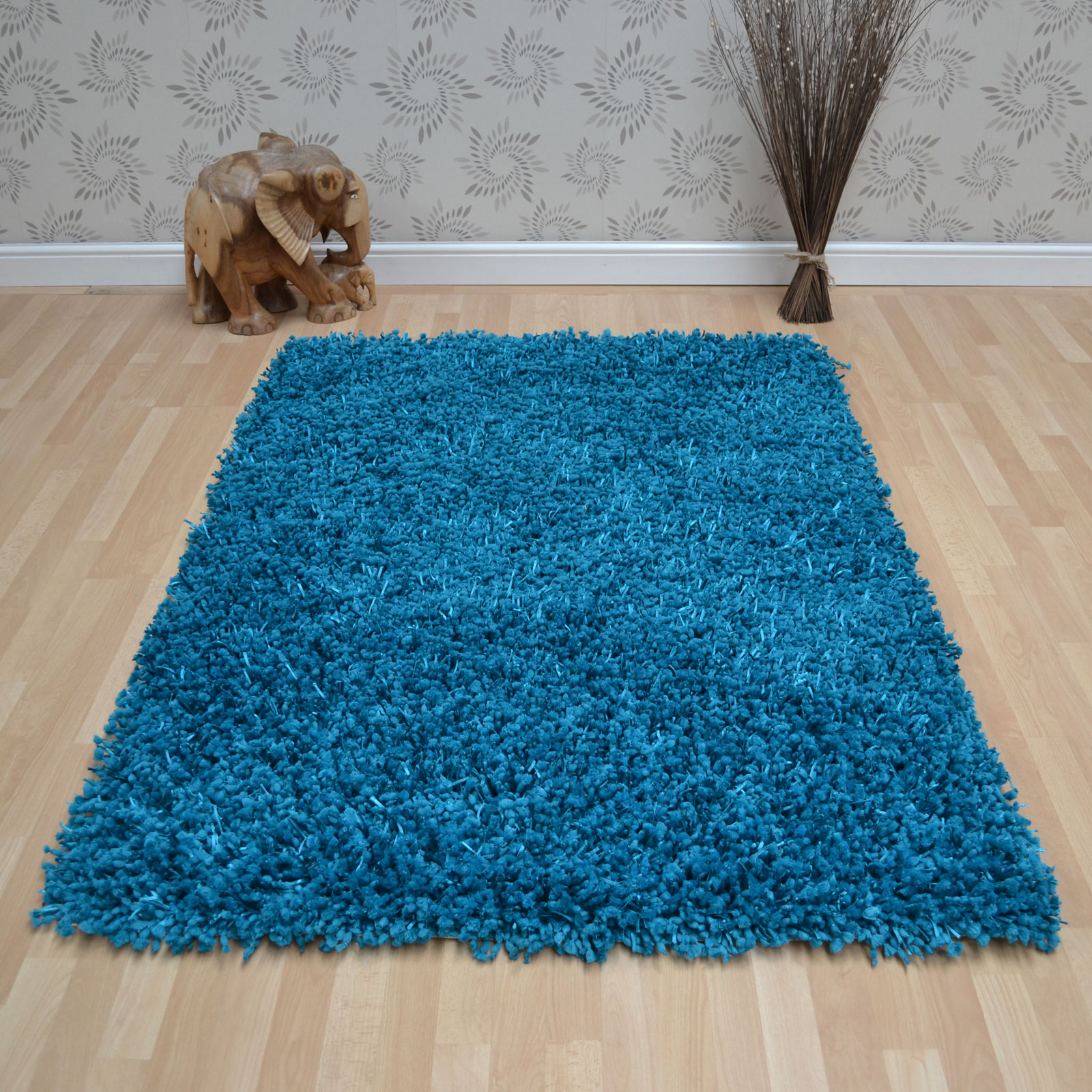 Dumroo Rugs in Teal