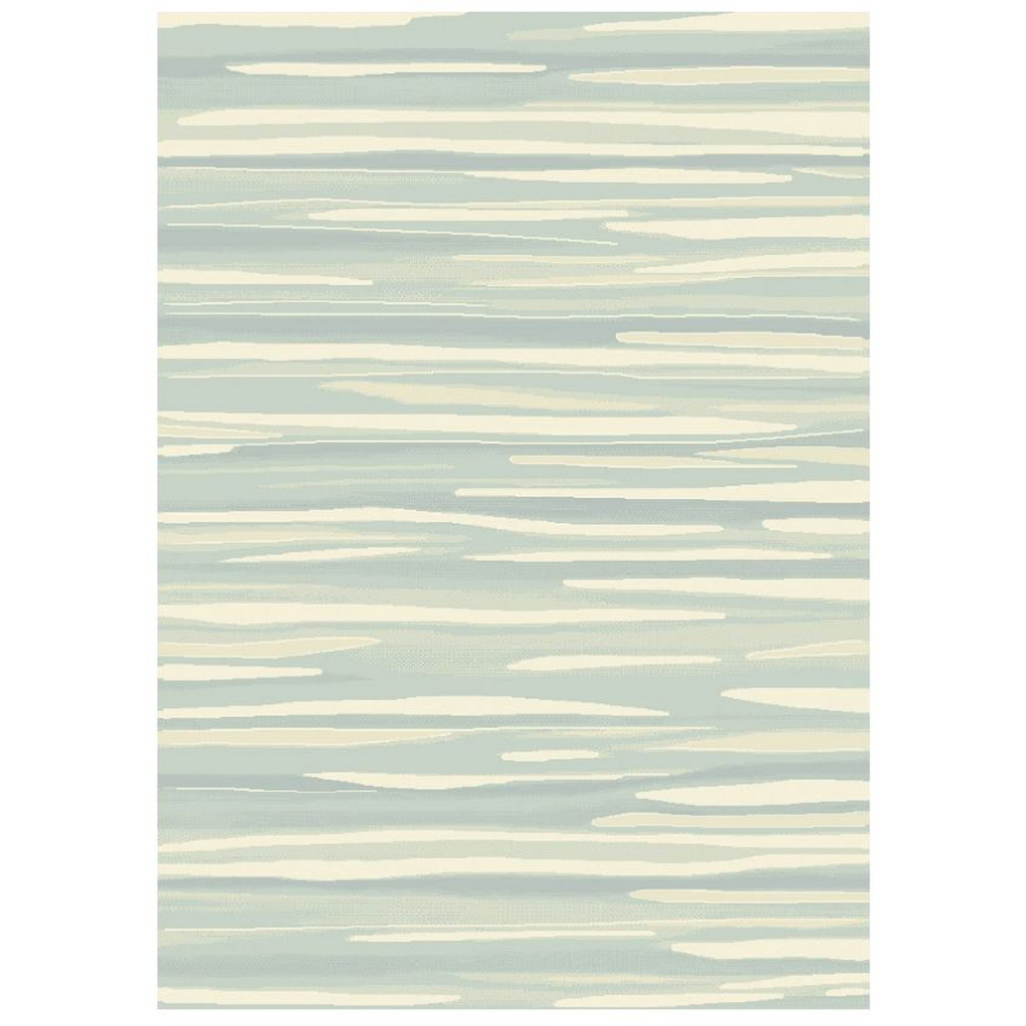 Echo Broken Stripe Rugs EC04 in Aqua