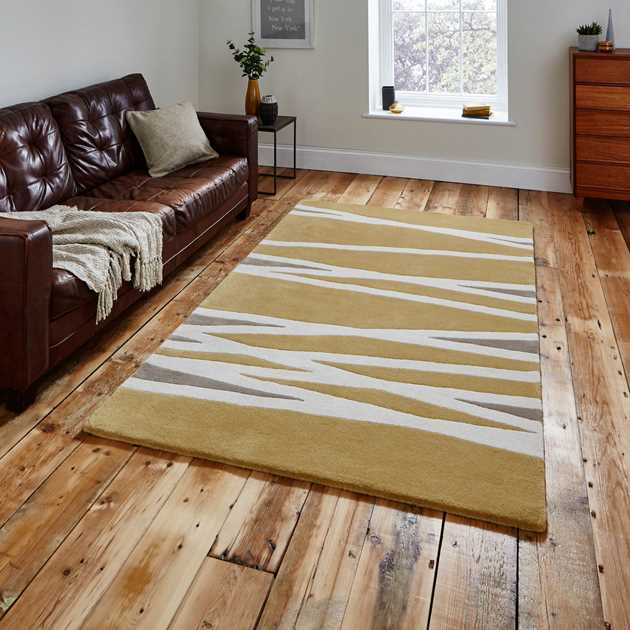 Elements Rugs EL61 in Yellow