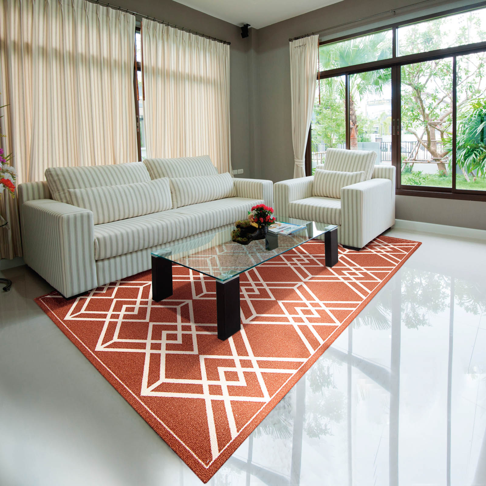 Enhance Rugs EN002 in Paprika