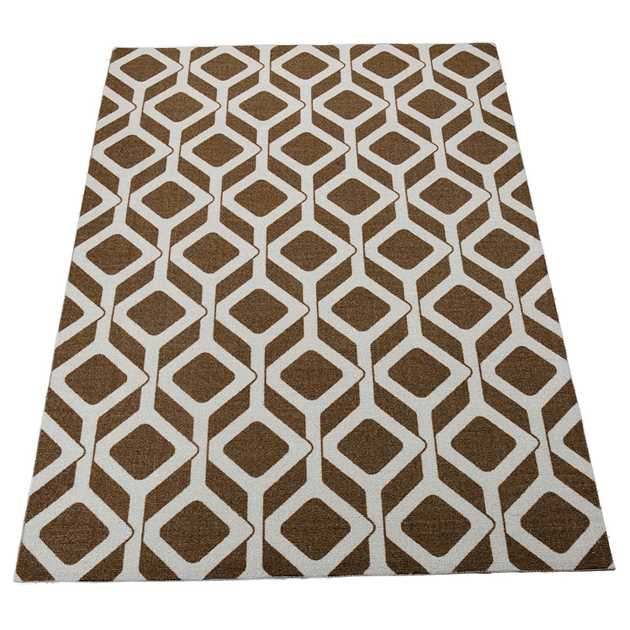 Enhance Rugs EN003 in Chocolate Blue