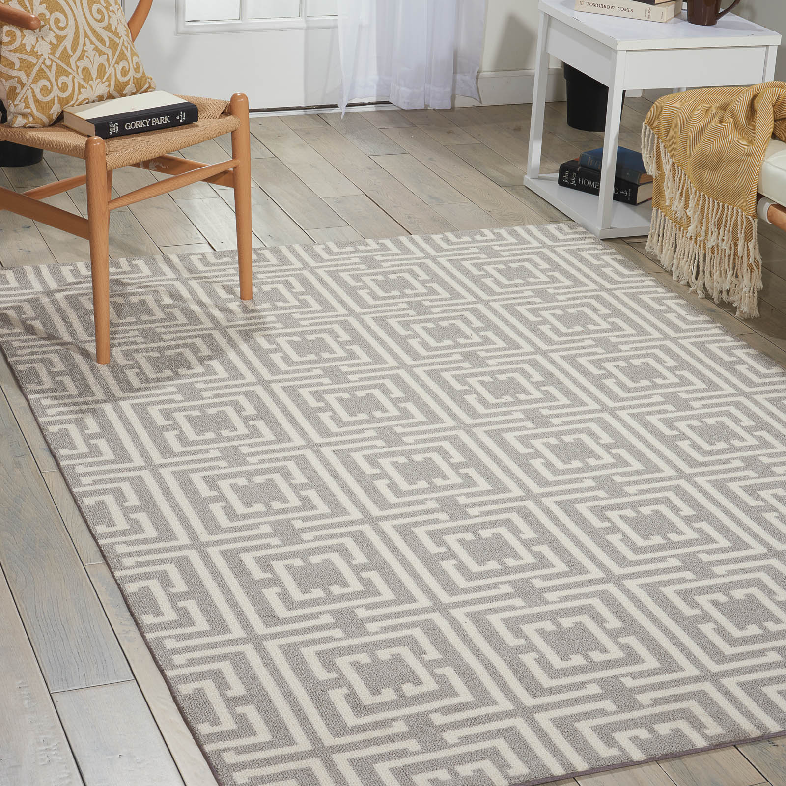 Enhance Rugs EN202 in Grey and Beige