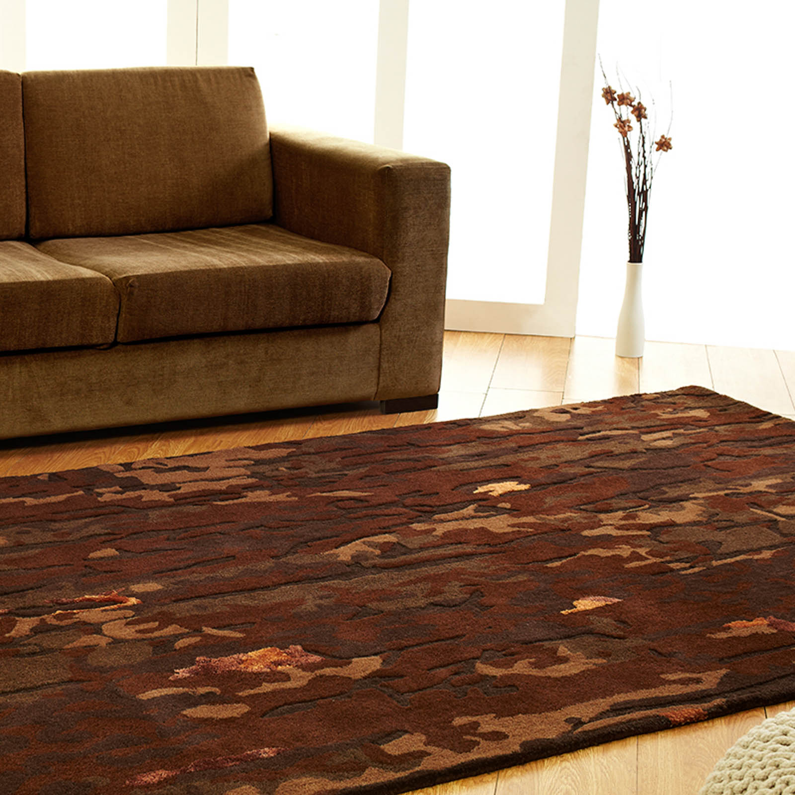 Unique Earth Rugs in Brown