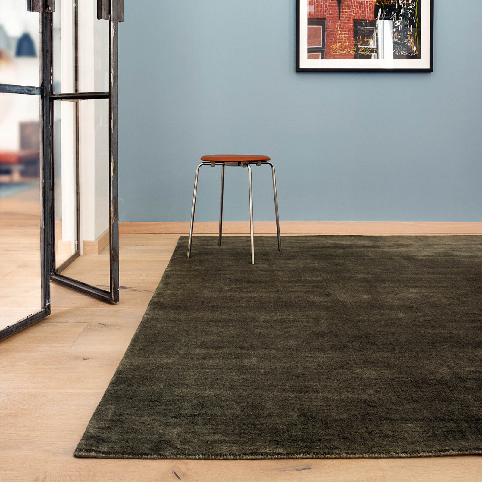 Earth Rugs in Charcoal by Massimo