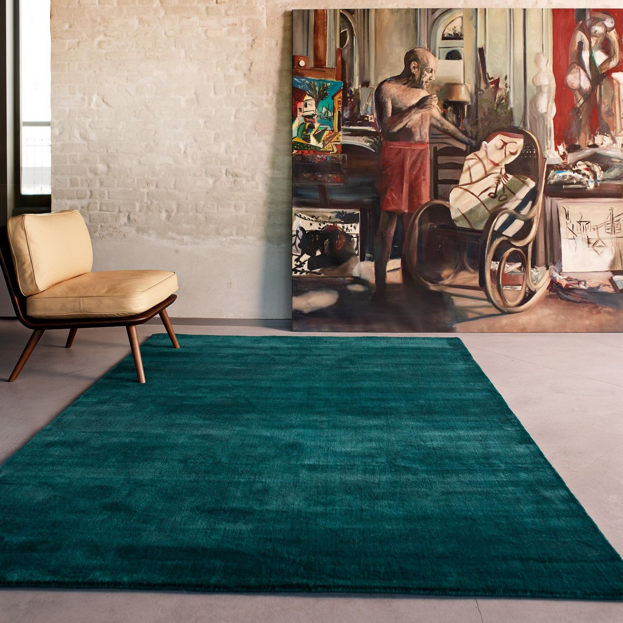Earth Rugs in Sea Green by Massimo