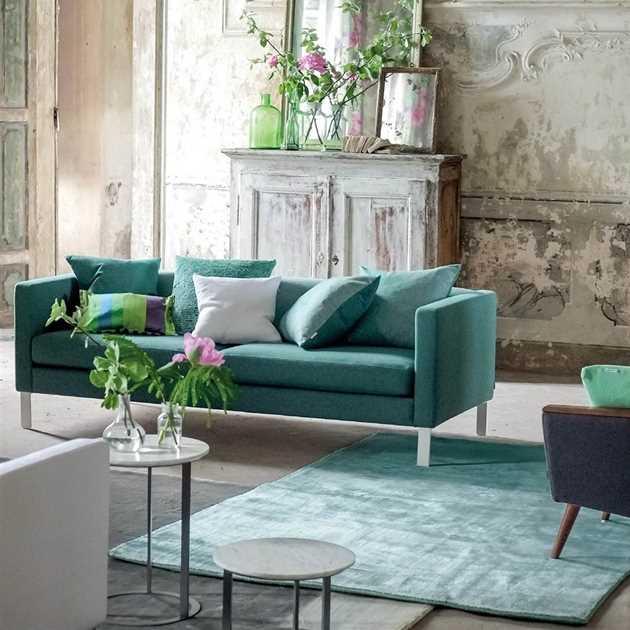 Eberson Aqua Rug By Designers Guild