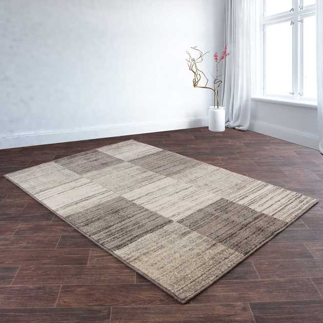 Eco Cubic Rugs in Beige and Grey