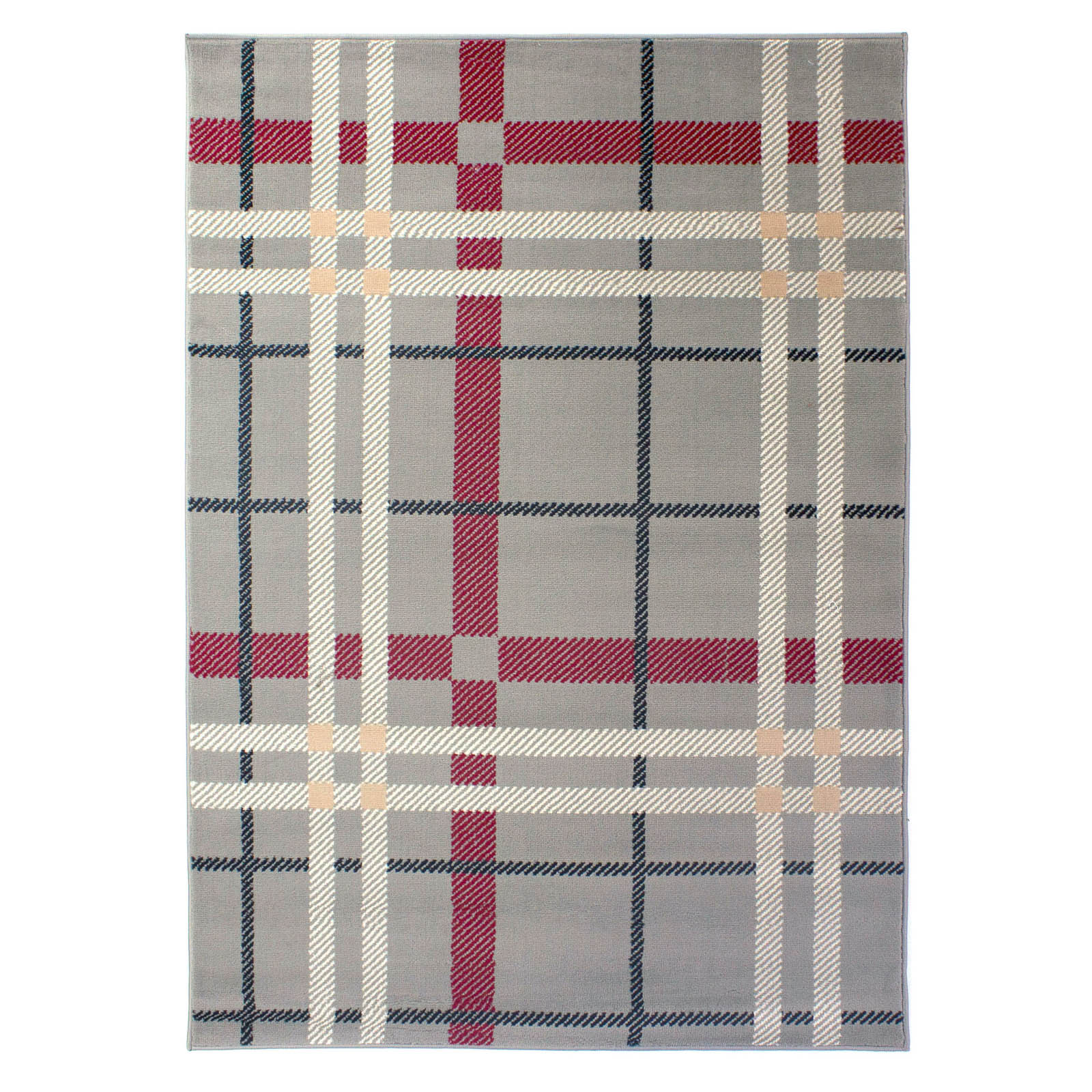 Plaid Rug: Element Plaid Rugs In Grey