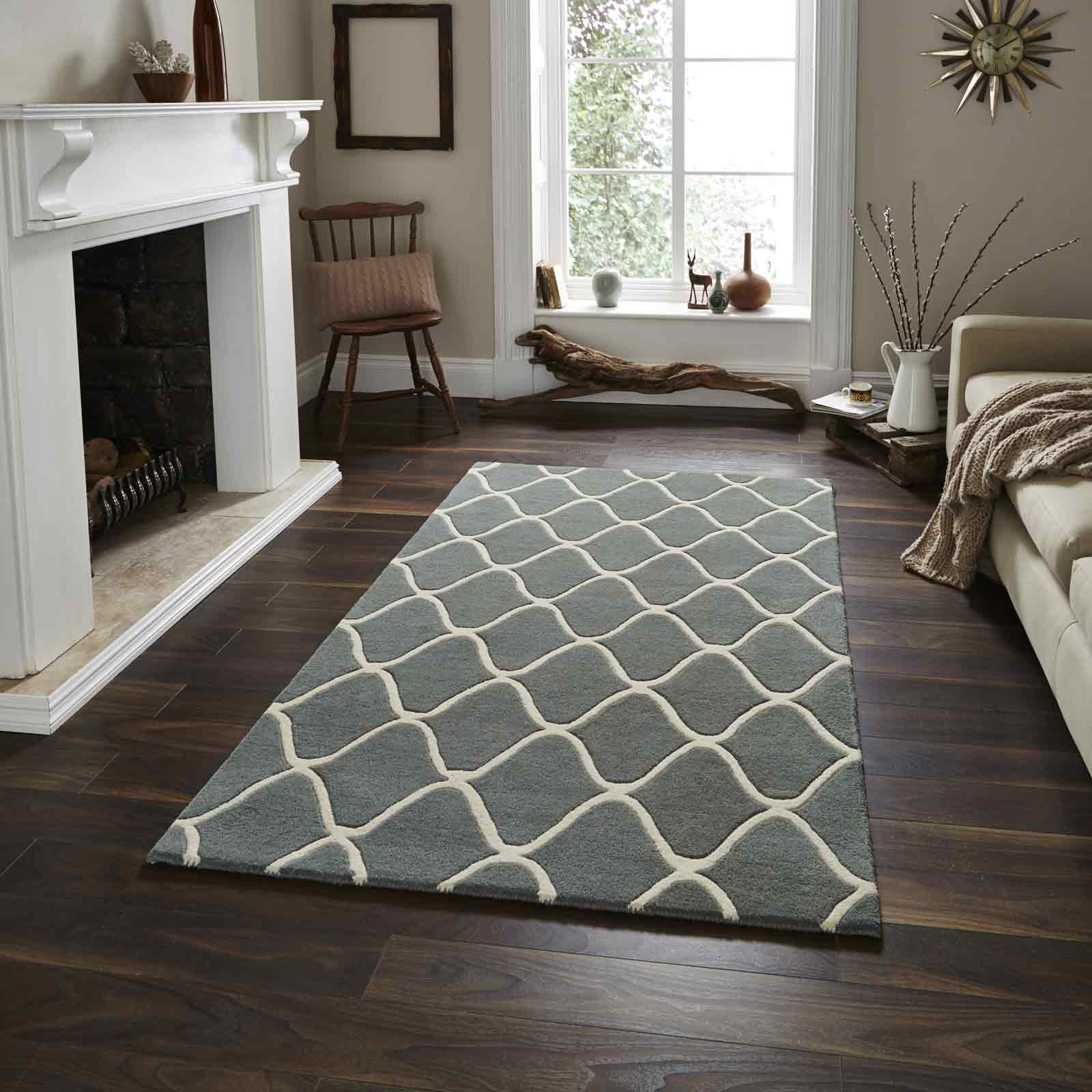 Elements Rugs EL65 Hand Made Wool in Blue
