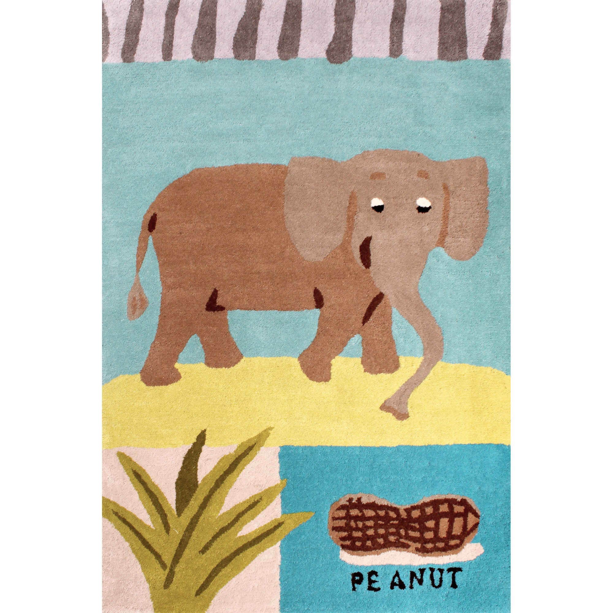 Kids Elephant Rugs in Blue