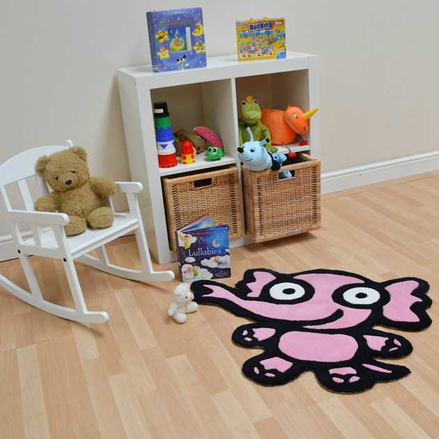 Kiddy Elephant Rugs In Pink